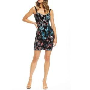 Dress the Population Velvet Sequin Dress Size S
